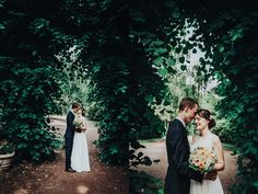 Couple Shoot during documentary Wedding Photography for Nadine's and Dominik's Wedding in Hamburg, Germany. Doesn't the hedge remind you of Star Trek - Into Darkness? :-p