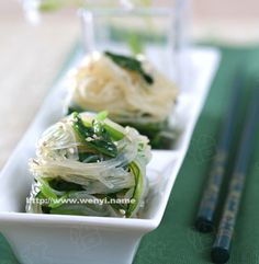 Cold spinach vermicelli_Summer Recipes_China Food Menu - best chinese food and chinese recipes