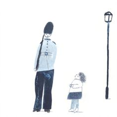Guard and Child. London Life by Laura Carlin for The New Craftsmen.
