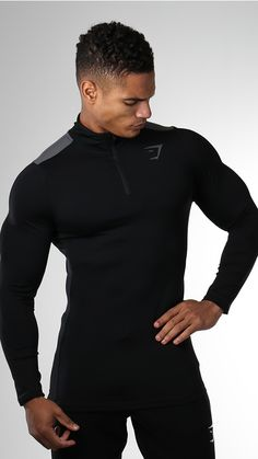 The Gymshark Edge 1/4 Zip Pullover is a fitness pullover designed to be your go-to outer layer in the gym, on the track and everywhere in between