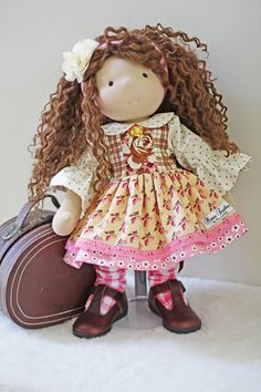 "RESERVED for Lindsay!!! Mouse Feathers Funky School Girl Dress for 17"" - 19"" dolls"