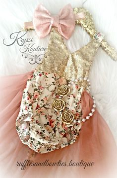 Cream, Plum Dusty Rose & Gold Floral Tutu Romper - Vintage Floral Romper - Smash Cake - 1st Birthday - Second Birthday - Princess - Sparkle - Gold sparkle