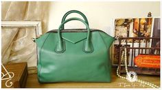 Leather Tote Bag  Shoulder Bag  Handbag in emerald by leeloongstudio, $129.00