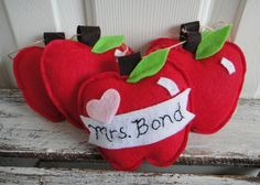 Personalized Teacher Felt Garland gift of by cloverlaneboutique, $28.00