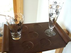 Mid Century Wooden Bar Tray by lookonmytreasures on Etsy
