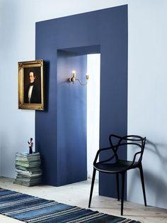 Clever Paint Tricks That Totally Make a Room Clevere Farbtricks, die einen Raum total machen Wohnung Therapie Home Interior, Interior And Exterior, Interior Decorating, Color Interior, Decorating Games, Interior Inspiration, Design Inspiration, Design Ideas, Interior Ideas