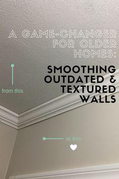 Super simple steps for skim coating old, textured walls