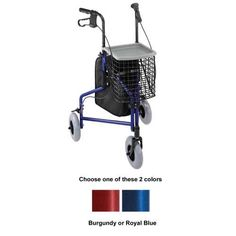 3-Wheel Aluminum rollator...looks ideal for transporting O2. #occupationaltherapy #physicaltherapy