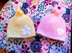 gorro bebé newborn Knitted Hats, Crochet Hats, Knitting, Beanies, Tejidos, Knitting Hats, Tricot, Knit Caps, Breien