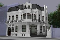 Huis Aubecq 1899 - 1902, afgebroken in 1949