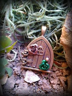 Enchanted Fairy Door Green by ArtbyStarlaMoore on Etsy, $30.00
