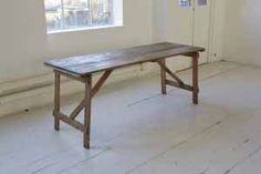 Standard+width+Rustic+folding+wooden+trestle+table    PLEASE+NOTE:+The+wood+colour+and+finish+may+vary+due+to+the+vintage+/