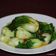 Baby Bok Choy with Sweet Chili Sauce