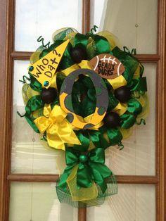 READY TO SHIPOregon ducks football wreath by TwistedWreaths, $90.00