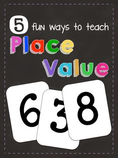 5 fun ways to teach place value! This can work for any grade level that teaches place value!