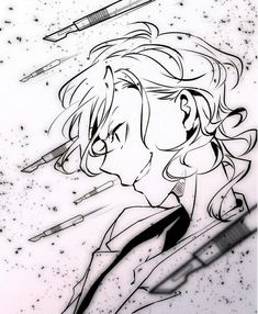 Me Anime, Anime Kiss, Anime Art, Bungou Stray Dogs Chuya, Stray Dogs Anime, Tokyo Ghoul, Cute Kawaii Drawings, Manga Drawing, Sketches