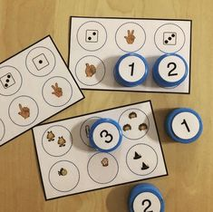 sets of free count and clip cards - The Measured Mom Petite Section, Grande Section, Speech Therapy Games, Kindergarten, Subitizing, Education Logo, Learning Numbers, Happy Baby, Childhood Education