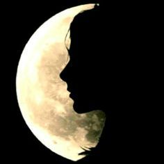 moons silhouette face -