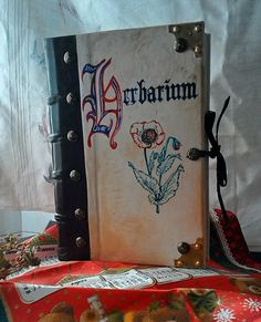 HERBARIUM book blank bookbinding leather brown medieval larp