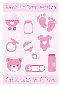 AmicheCreaAttive: Silouettes decorazioni in tema newborn :-)))) Distintivos Baby Shower, Baby Shower Parties, Baby Crafts, Diy And Crafts, Paper Crafts, Princess Cupcake Toppers, Baby Silhouette, Baby Boy Scrapbook, Baby Clip Art