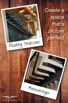 Floating stairs are the future of staircase design. Our FLIGHT systems are made up of a mono-stringer, thick treads, and premium railing. Each system is custom-configured to accurately fit, quickly install, and look amazing. And with FLIGHT PLAN—our seamless service platform—we're with you every step. Follow the link to get started! #design #interiordesign #DIY #renovation #Viewrail #ViewrailFLIGHT #FloatingStairs #FloatingStaircase #stairs #staircase #architecture #railing
