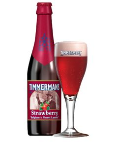 Timmermans Strawberry, fruit Beer