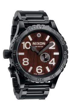 $299.90 - Men's Nixon 'The 51-30' Oversized Bracelet watch is 40% Off!   Awesome urban for men.