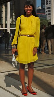 mustard yellow pleats!