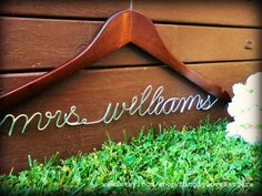 this will be my name soon!! hee-hee (personalized hangers) for your wedding dress?