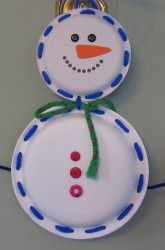 Snowman. Love the yarn edges as an extra for little hands!