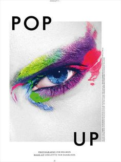 Painterly Cosmetic Close-Ups - The Pop Up Prestage Editorial is Artfully Depicted (TrendHunter.com)