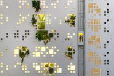 World Architecture Community News - Jean Nouvel's 'White Walls' is a vertical landscape tower dominated by pixelated facade in Cyprus Jean Nouvel, Architecture Design, Green Architecture, Facade Design, Design Architect, Picture Wall, Photo Wall, Images Murales, Green Facade
