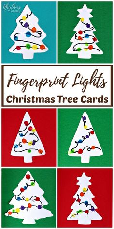 Fingerprint Christmas Lights Cards Craft – Make beautiful handmade cards to send to family and friends for the holidays this […] Homemade Christmas Tree, Christmas Card Crafts, Preschool Christmas, Christmas Activities, Handmade Christmas, Christmas Lights, Christmas Card Ideas With Kids, Christmas Presents, Holiday Gifts