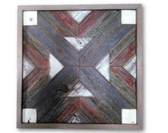 Original Reclaimed Wood Art by Alley Cat Design Studio  Catherine and Alan Moore  Louisville Quilt Block Reclaimed Wood Quilt Block Artwork 2015 Three (3) Varieties Shown  Rustic - Modern – Contemporary Wood Quilt Wall Art  Reclaimed Rough Sawn Cedar Fencing Material  Made to Order Only  Approx. 32 x 32 x 1 3/8. (Price/shipping shown is for THIS SIZE ONLY)  ALL OTHER SIZES... (see individual prices further down...) Please contact us PRIOR TO ORDERING with your ZIP CODE for FIRM SHIP...