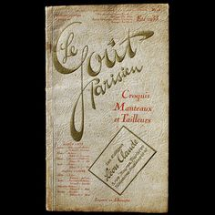 Le Goût Parisien, Croquis Manteaux et Tailleurs (Eté 1933)