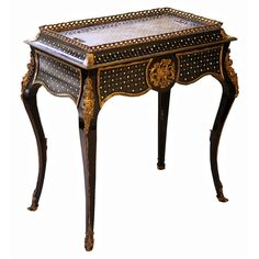 Napoleon III Sormani 'Rococo' Jardiniere Table | From a unique collection of antique and modern planters and jardinieres at http://www.1stdibs.com/furniture/building-garden/planters-jardinieres/
