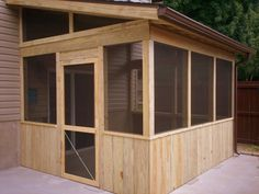 Screened In Patio Enclosure with Kneewall Rails by Archadeck, St. Louis Mo