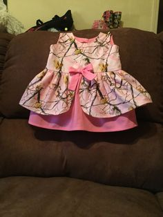 Pink Camo baby dress by Deb