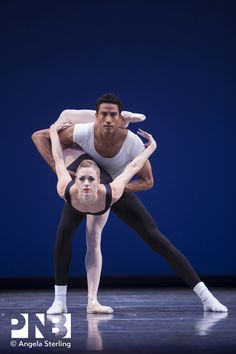 PNB principal dancers Lesley Rausch and Karel Cruz in George Balanchine's Agon. #PNB #Ballet #Balanchine #Rausch #Kruz