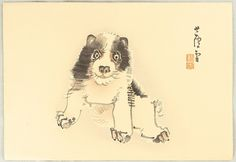 Artist: Nagasawa Rosetsu Title:Puppy Date:Originally in Edo era. This edition was made probably in the early 20th century.