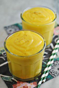 Easy Vegan Mango Lassi - dairy-free recipe via @blenderist for @sodelicious recipe contest!