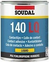 Adeziv Neoprenic Soudal LQ140 (5L) Adeziv neoprenic folosit pentru lipirea majoritatii materialelor, cum ar fi: cauciuc, piele, piele artificiala, pluta, plastic pe orice material sau pe el insusi. Este rezistent la umezeala dupa intarire. Buna rezistenta la apa. Excelenta aderenta pe materiale sintetice - linoleum, covor PVC montate pe suprafete orizontale - pardoseli. Nu este recomandat... Stickers