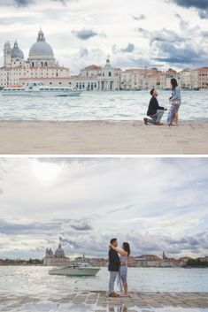 After she said yes, they strolled around Venice for a stunning same-day engagement photo shoot!