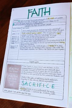 Scripture Journal - I love the way she journals her scripture study