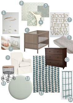 neutral nursery - could add hints of gender specific colors