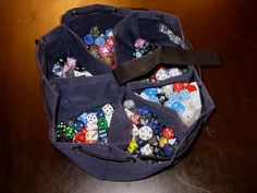 """Robert Donoghue - Fantastic Dice Bag."" Brilliant, easy pattern to replicate."