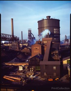 Hanna furnaces of the Great Lakes Steel Corporation, Detroit, Michigan. General…