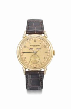 Vacheron Constantin. A fine and attractive 18K pink gold triple calendar wristwatch with two-tone champagne dial and box #ChristiesWatches