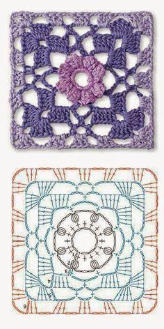 Crochet ÖRGÜLER trabalho: CROCHET MOTIFS