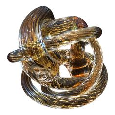 "Late Century Sculpted Glass Rope ""Cobra"" Sculpture For Sale Abstract Sculpture, Sculpture Art, Vintage Art, Vintage Antiques, Oil Portrait, Sculptures For Sale, Late 20th Century, Art Fair, Sculpting"